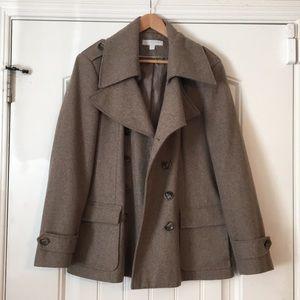 New York & Company beige pea coat